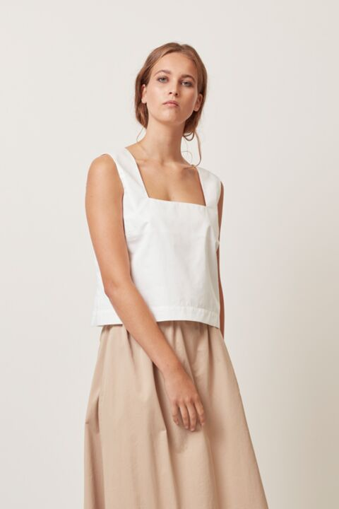 Square neckline summer top