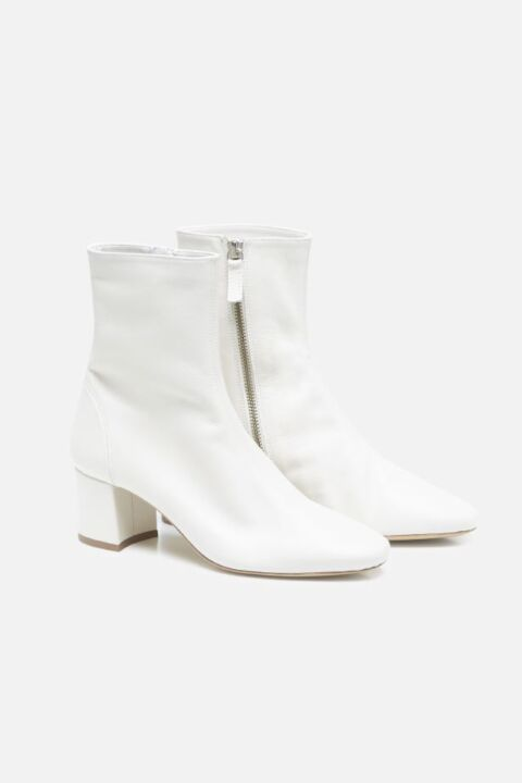 Buttery-soft ivory boots