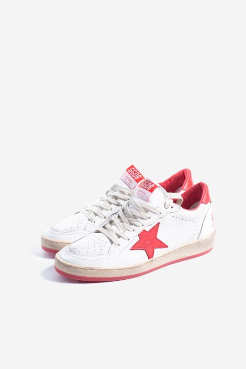 White/red ball star sneakers