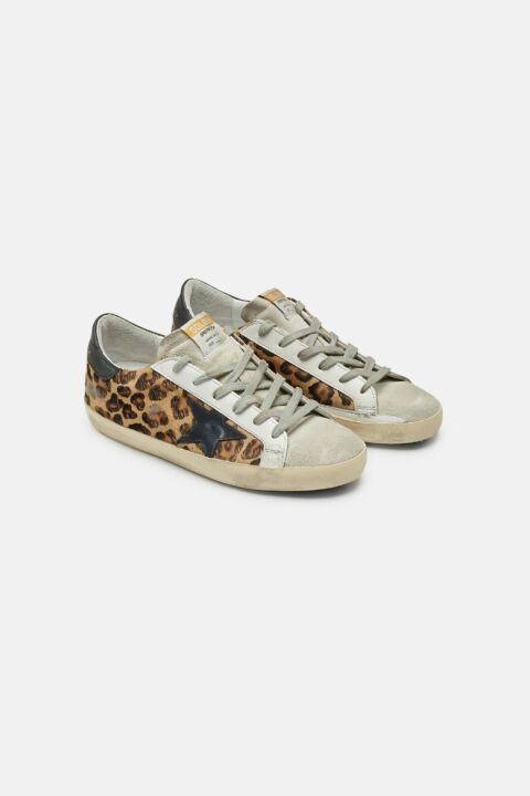 Leopard superstar sneakers