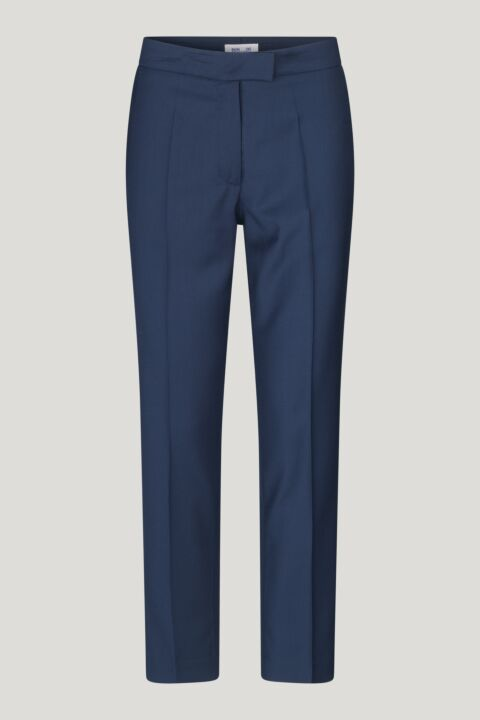 Navy straight trousers