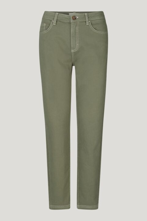 Moss green straight jeans