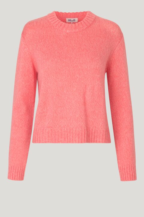 Soft pink knit pullover