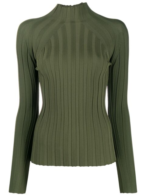 High neck fitted knit