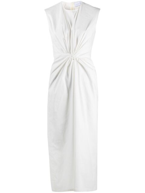 Midi dress with knot detail
