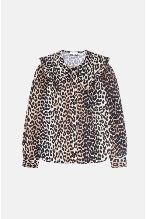 Leo shirt with frilled collar