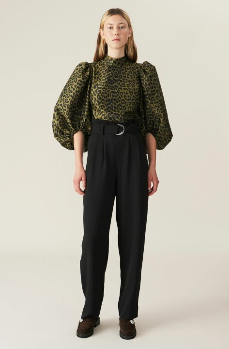 High waisted paperbag trousers