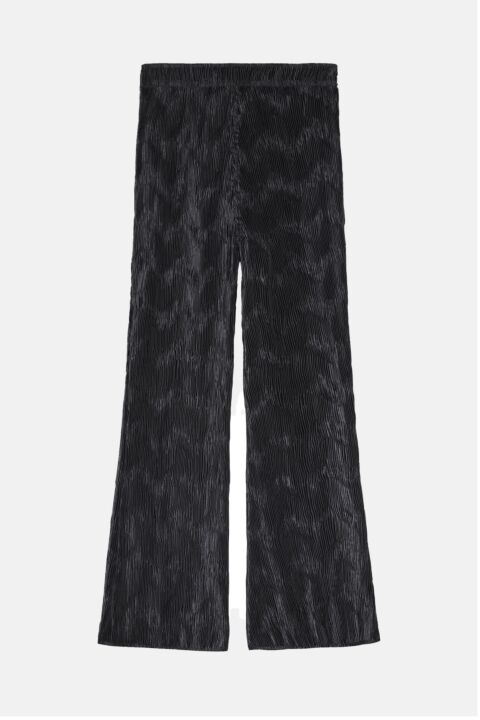 Structured satin trousers