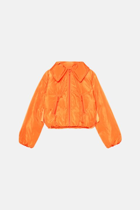 Red flame tech down jacket