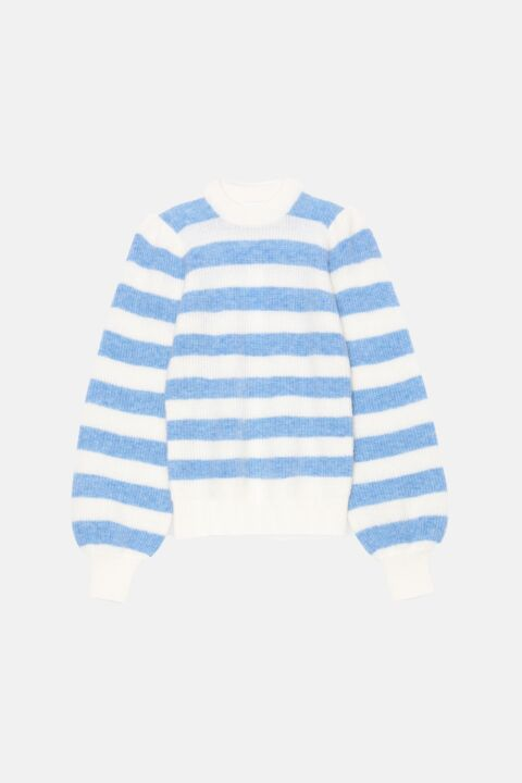 Soft wool striped pullover