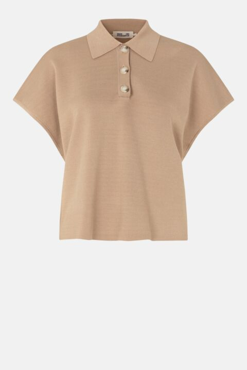 Knitted beige polo