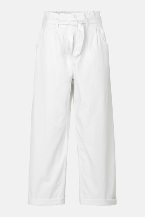 Belted white trousers