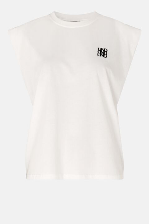 Snow white loose fit t-shirt