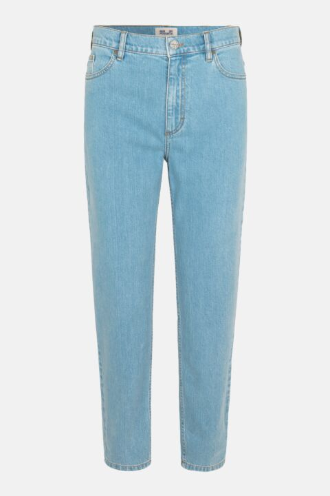 Straight light blue jeans