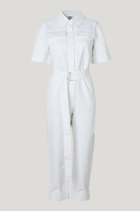 White short sleeved jumpsuit