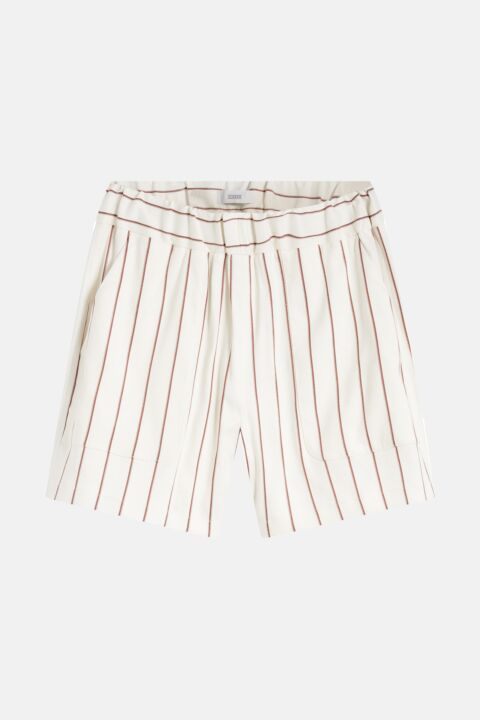 Striped linen mix shorts