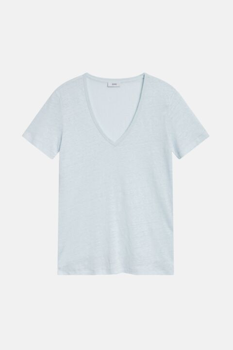 Light blue v-neck shirt