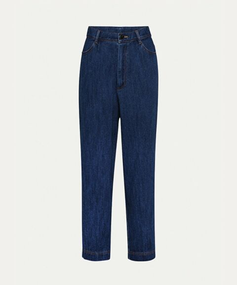 High-waist jeans trousers