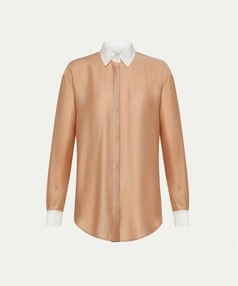 Satin twill shirt