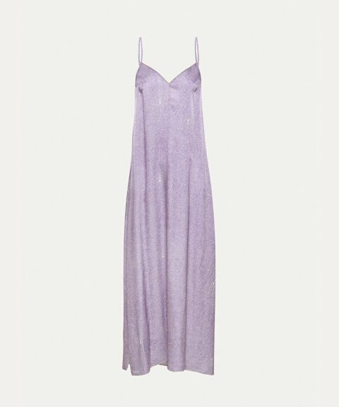 Lilac cloque satin dress