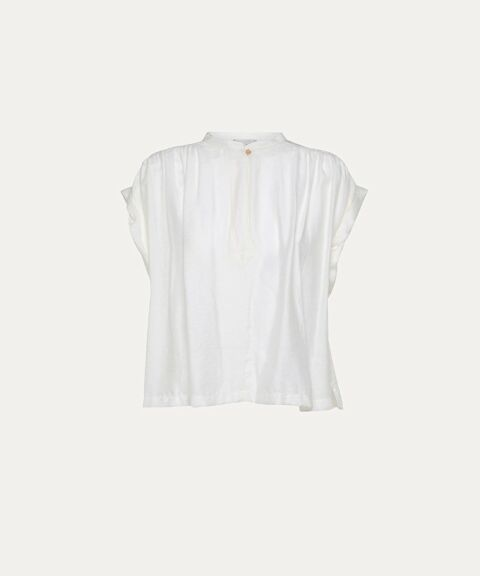 Sleeveless twill top
