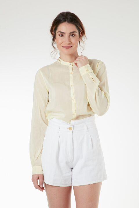 Lemon cotton-silk shirt