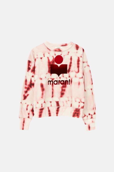 Tie dye red sweater