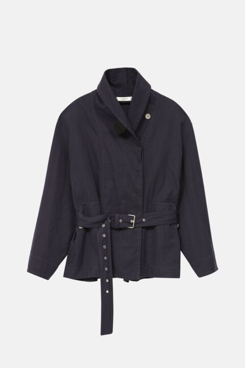Navy cotton trench jacket