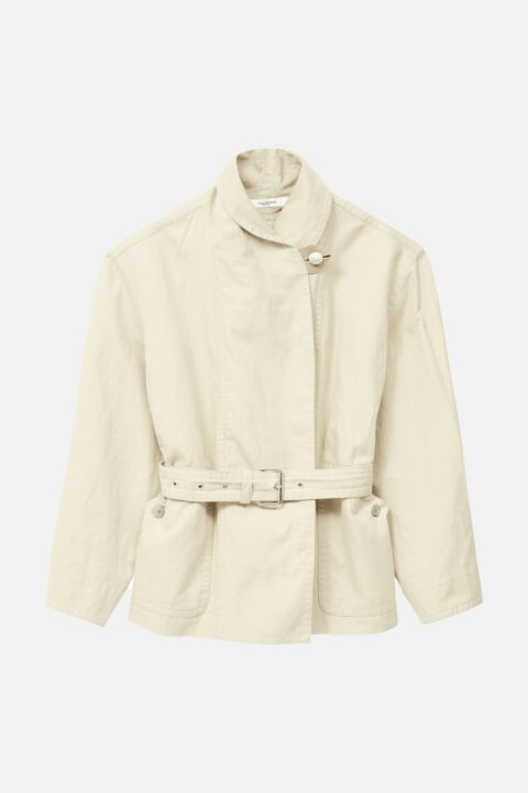 Off white cotton-blend jacket