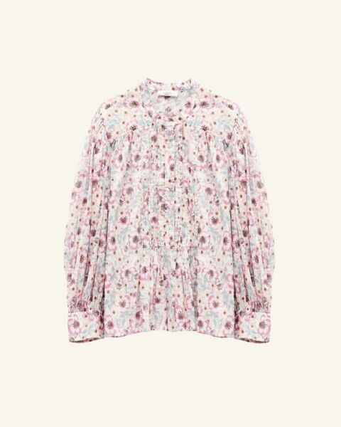 Flower printed cotton shirt