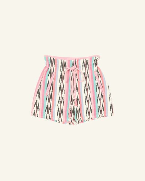 Jaquard colour cotton shorts