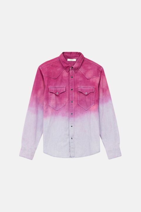 Cotton purple tie dye shirt
