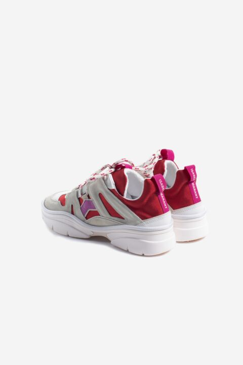 Red/pink chunky sneakers