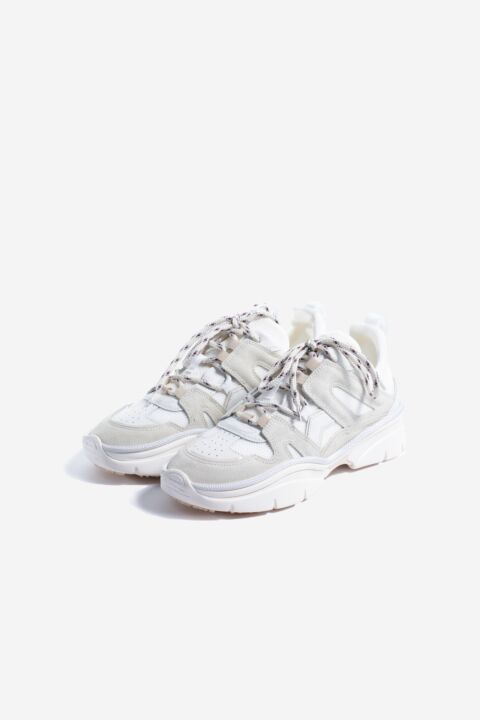 White panelled sneakers