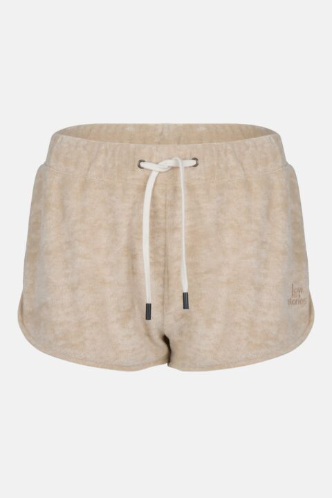 Terry fabric shorts