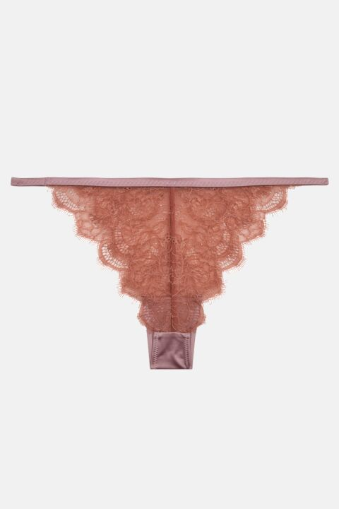 Lace rose pink briefs