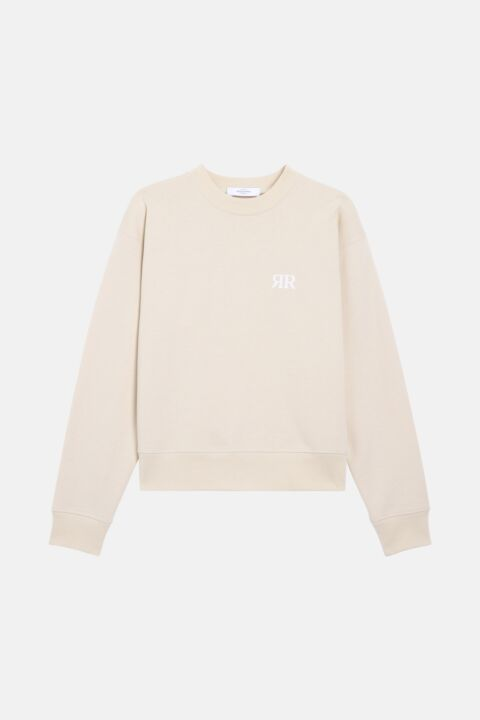 Ecru jersey sweater