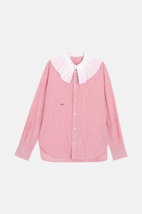 Cotton shirt with collar