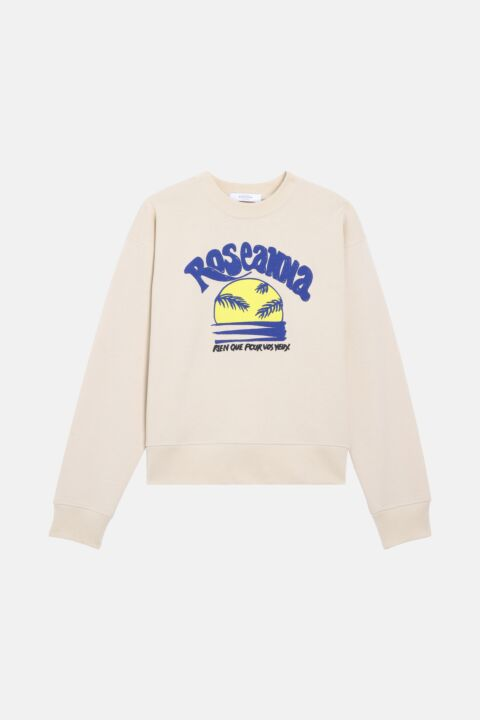 Sunset blue/yellow sweatshirt