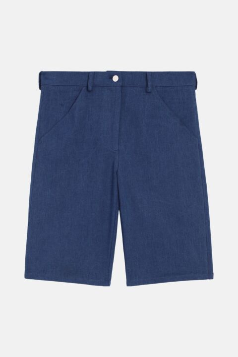 Cotton canvas shorts