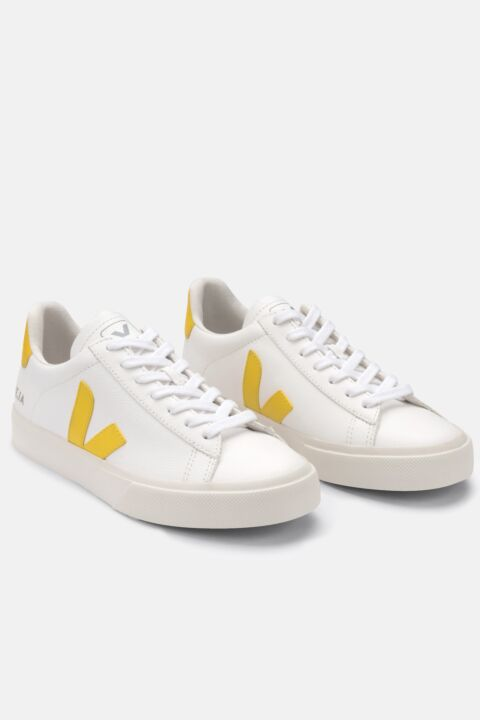 White/yellow campo sneakers