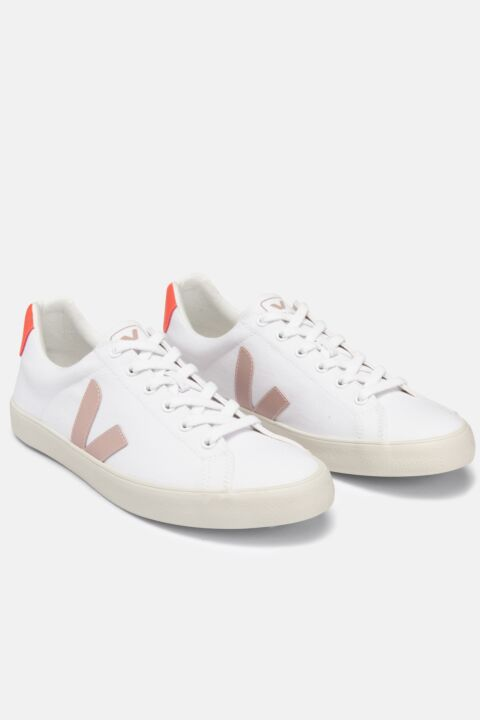 Pink/orange campo sneakers