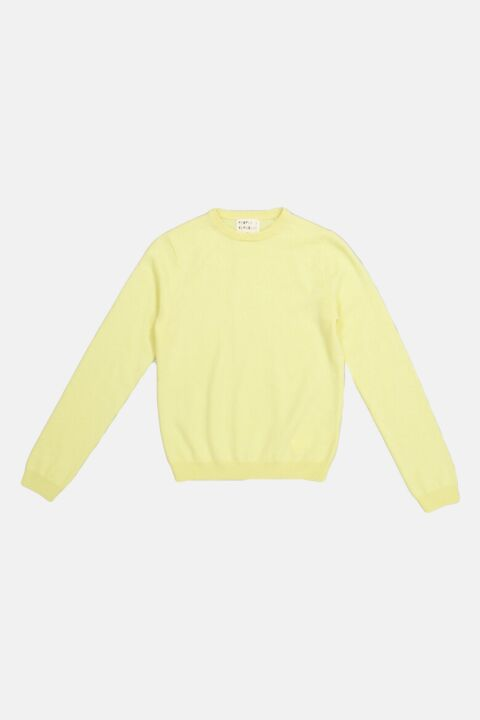 Yellow cashmere roundneck pull