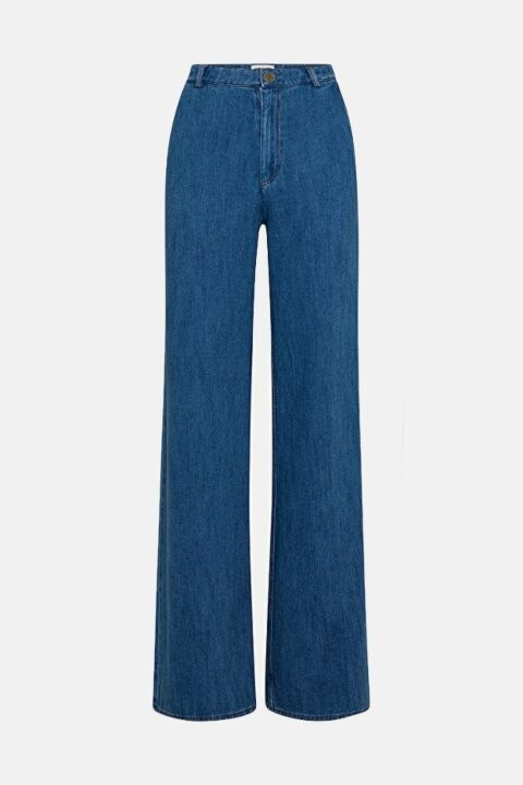 Denim pelazzo trousers
