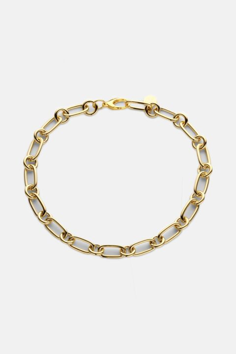 Gold medium chain necklace