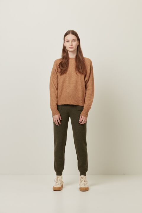 Knitted relaxed fit leggings