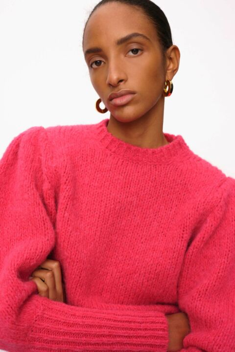 Bright pink knit