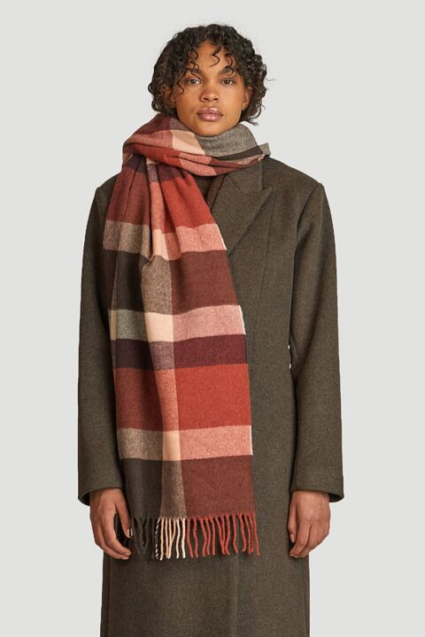Cashmere blend checked scarf