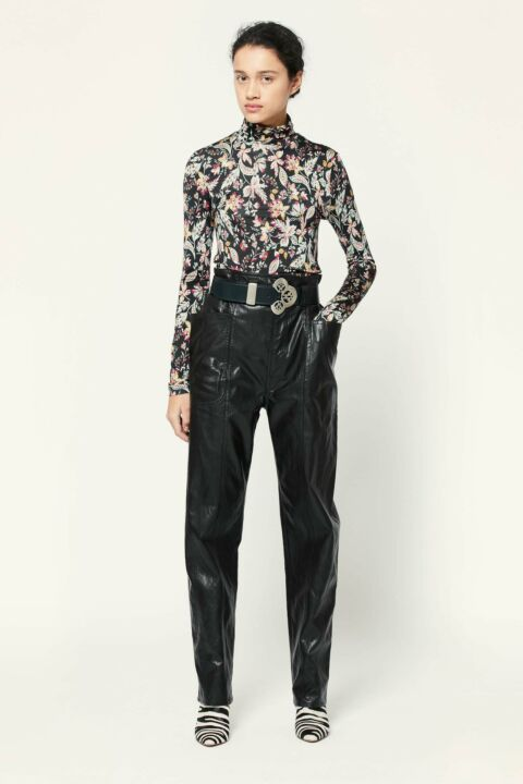 Black pu leather trousers
